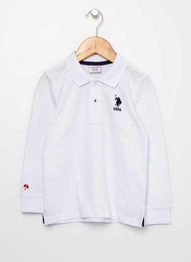 U.S. Polo Assn. U.S. Polo Assn. Polo Yaka Beyaz Sweatshirt Beyaz